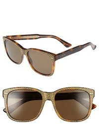 Gucci 56mm Sunglasses Havana Brown