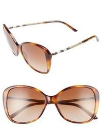 Burberry 57mm Butterfly Sunglasses Light Havana