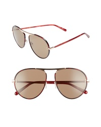 Stella McCartney 58mm Aviator Sunglasses