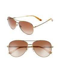 Tory Burch 59mm Metal Aviator Sunglasses