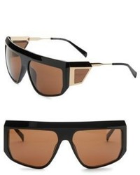 Balmain 62mm Aviator Shield Sunglasses