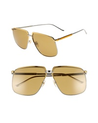 Gucci 63mm Square Aviator Sunglasses