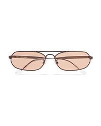 Balenciaga Agent Oval Frame Metal Sunglasses