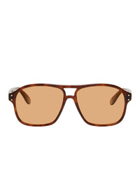 Gucci And Brown Aviator Sunglasses