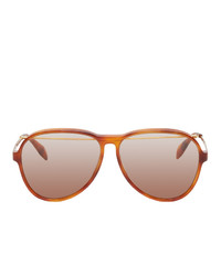 Alexander McQueen Aviator Piercing Sunglasses