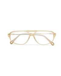 Chloé Aviator Style Acetate And Gold Tone Optical Glasses