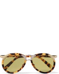 Prada Aviator Style Tortoiseshell Acetate And Gold Tone Sunglasses
