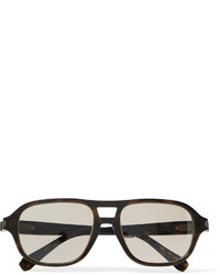 Brioni Aviator Style Tortoiseshell Acetate Photochromic Sunglasses