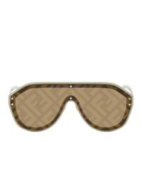 Fendi Beige Forever Shield Sunglasses