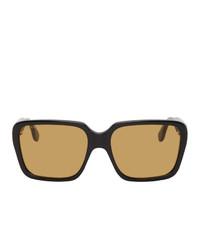 Gucci Black And Yellow Gg0786s Sunglasses