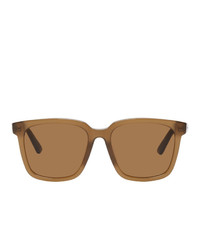 Bottega Veneta Brown Square Sunglasses