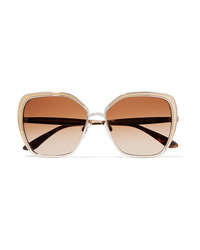 Dolce & Gabbana Butterfly Frame Silver And Gold Tone Sunglasses