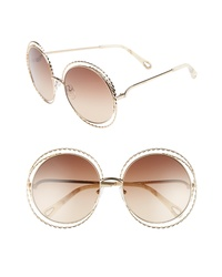 Chloé Carlina Torsade 58mm Round Sunglasses
