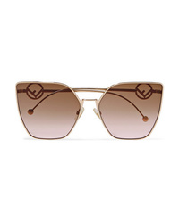 Fendi Cat Eye Gold Tone Sunglasses
