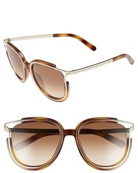 Chloé Chloe Jayme 54mm Retro Sunglasses Light Havana