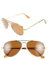 Concorde classic 57mm polarized sunglasses gold tan medium 259631