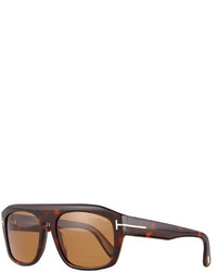 Tom Ford Conrad Shiny Havana Sunglasses Brown