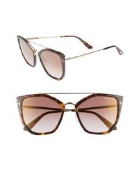 Tom Ford Dahlia 55mm Sunglasses
