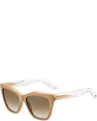 Givenchy Etched Square Sunglasses