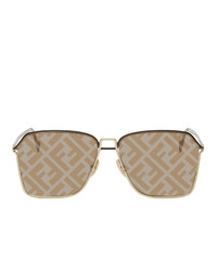 Fendi Gold And Brown Forever Sunglasses