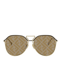 Fendi Gold Ff Regular Sunglasses