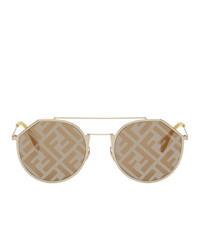 Fendi Gold Forever Eyeline Sunglasses