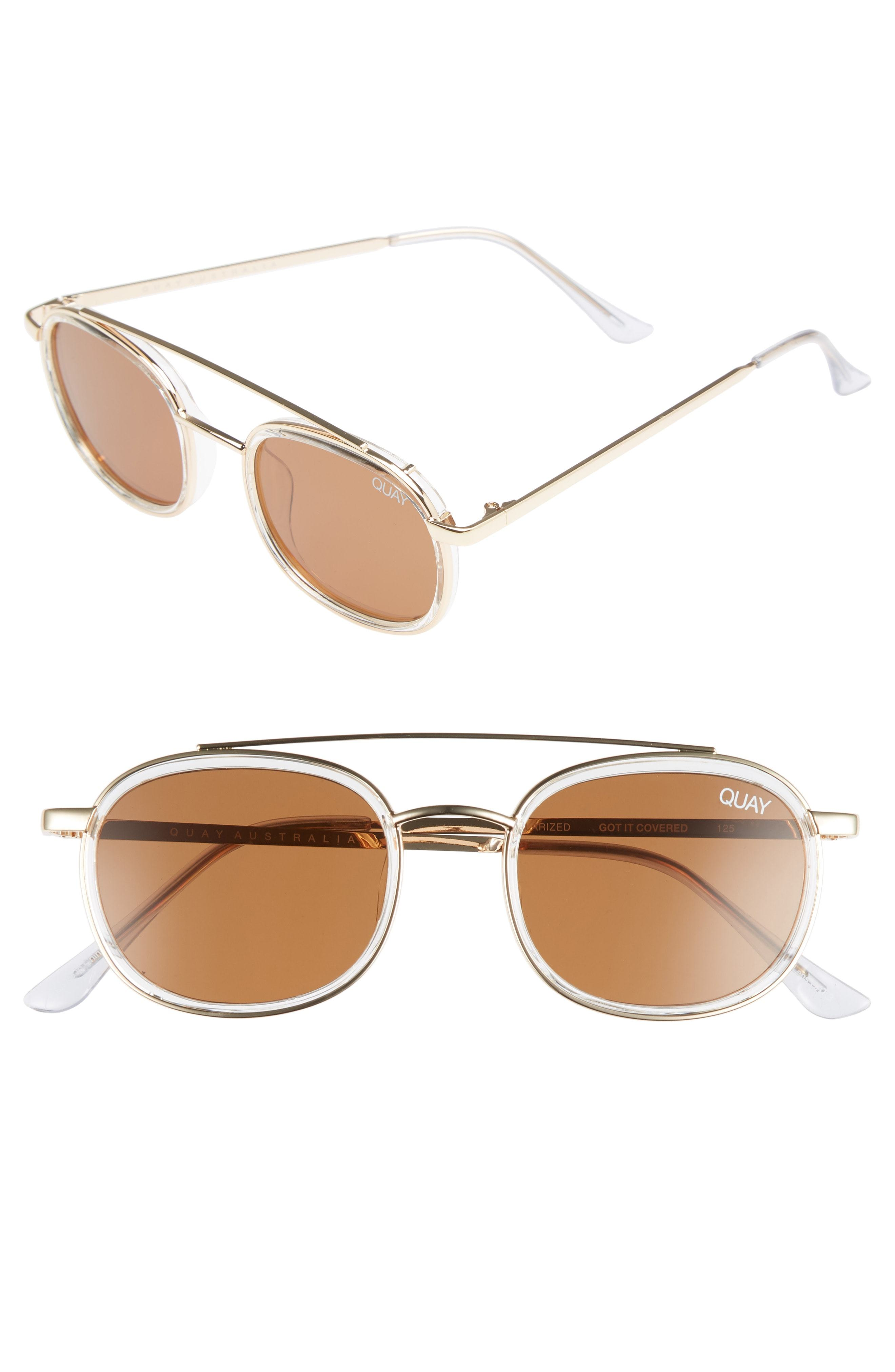 0d1320102e86a ... Quay Australia Got It Covered 50mm Polarized Sunglasses