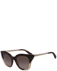 Salvatore Ferragamo Gradient Square Cat Eye Sunglasses