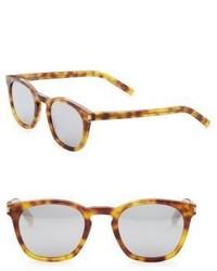 Saint Laurent Havana 52mm Square Sunglasses