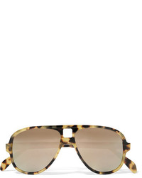 ... Acne Studios Hole Aviator Style Tortoiseshell Acetate Mirrored  Sunglasses 6ebe0b02d15