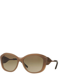 Burberry Lace Embossed Geometric Sunglasses Opal Beige