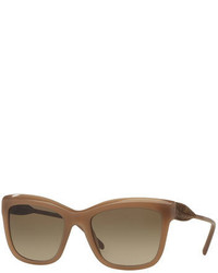 Burberry Lace Embossed Square Sunglasses Opal Beige