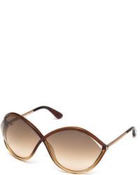 Tom Ford Liora Oversized Open Inset Sunglasses