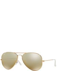 Ray-Ban Mirrored Metal Aviator Sunglasses