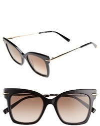Max Mara Needliv 49mm Gradient Cat Eye Sunglasses