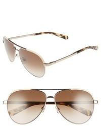 Kate Spade New York Amarissa 59mm Polarized Aviator Sunglasses Silver Pink