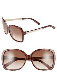 Kate Spade New York Darrilyn 58mm Butterfly Sunglasses Blush Tortoise