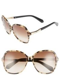 Kate Spade New York Jolyn 58mm Gradient Lens Sunglasses Havana Black