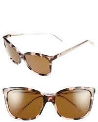 Kate Spade New York Kasie 55mm Polarized Sunglasses Havana Rose