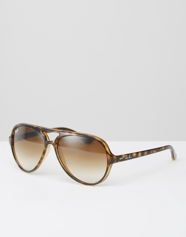 855f595d243 free shipping lunette de soleil ray ban cats 5000 tortoise 84f3a a2562