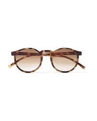 Le Specs Spirit Deux Round Frame Tortoiseshell Acetate Sunglasses
