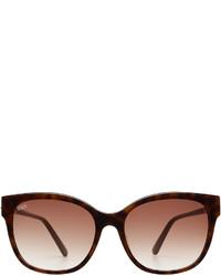 Tod's Square Tortoiseshell Sunglasses