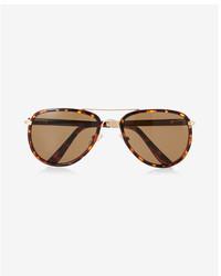 Express Textured Armband Aviator Sunglasses