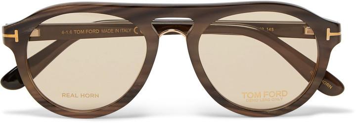 426197d60ec8 ... Tom Ford Tom N3 Aviator Style Horn Sunglasses ...