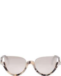 Fendi Tortoiseshell Crystal Half Cat Eye Sunglasses