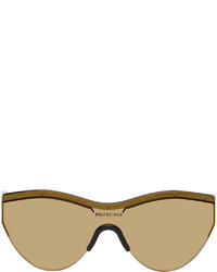 Balenciaga Yellow Black Ski Cat Sunglasses