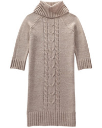 Joe Fresh Cable Knit Sweater Dress Grey Mix