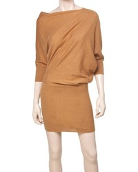 Max studio knitted asymmetrical sweater dress medium 356139