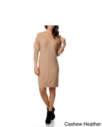 Republic Clothing Ply Cashmere Boat Neck Sweater Dress