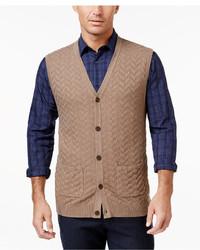 Tasso Elba Chevron Sweater Vest Only At Macys